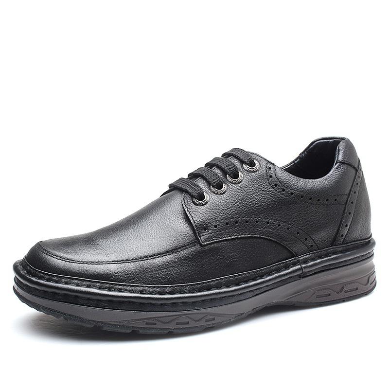 【何金昌】男士增高鞋布洛克雕花内增高皮鞋