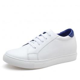 【何金昌】彩尾内增高小白鞋个性白色内增高休闲板鞋6厘米