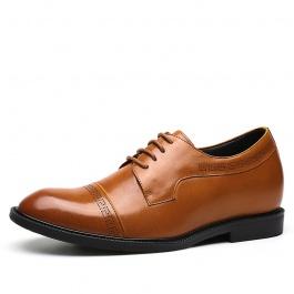 【何金昌】复古商务绅男士皮鞋 优雅睿智之选增高皮鞋 7CM