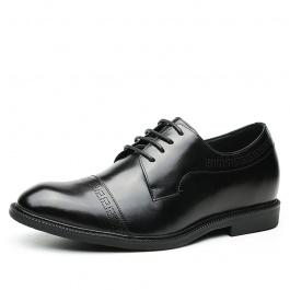 【何金昌】复古典雅男士增高皮鞋 商务首选皮鞋 7CM