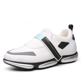 【何金昌】白色新款男士内增高运动鞋 男女同款情侣鞋 绝地武士白色款 男款增高6CM