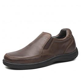 【何金昌】男士商务休闲鞋6CM 男士休闲增高鞋 咖啡色