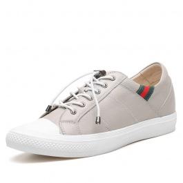 【何金昌】内增高日常休闲鞋新款,男士增高鞋灰色6cm