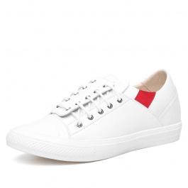 【何金昌】内增高板鞋新款上市,白色百搭增高鞋6CM