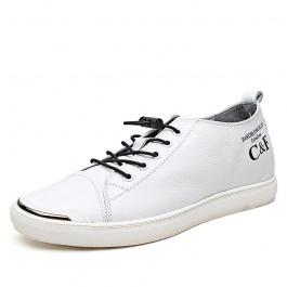 【乐昂】内增高鞋男系带休闲鞋透气套脚板鞋夏季韩版小白鞋增高6CM