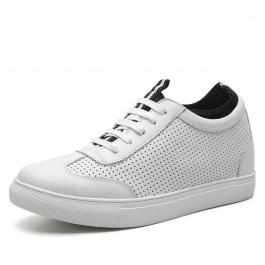 【何金昌】新款男士内增高滑板鞋系带黑色隐形增高6CM