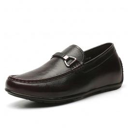 【何金昌】软面擦色皮内增高休闲鞋时尚新款男士增高鞋6CM