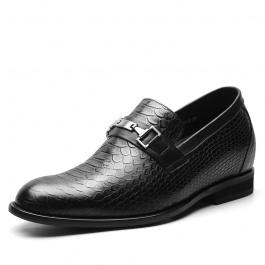 【何金昌】新款蛇纹男士内增高鞋,正装皮鞋增高鞋7CM