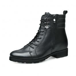 【何金昌】硬汉男子长筒靴 真皮男士硬汉靴子隐形内增高
