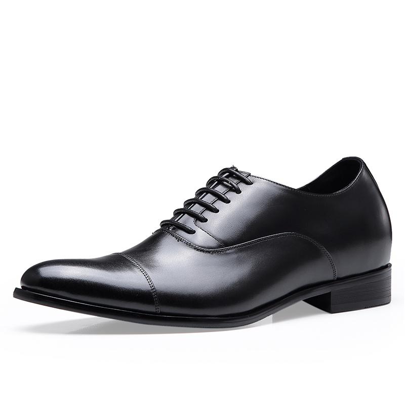 【何金昌】隐形内增高男鞋休闲鞋2019新品轻便舒适真皮男士增高鞋6CM