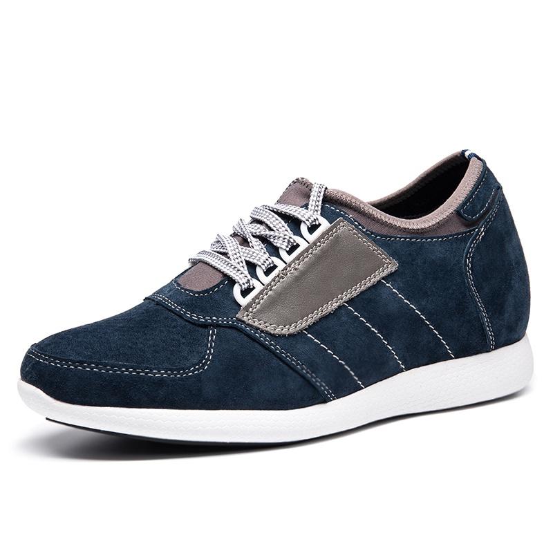 【何金昌】轻盈舒适一体成型针织面运动增高鞋 时尚简约增高鞋 7CM