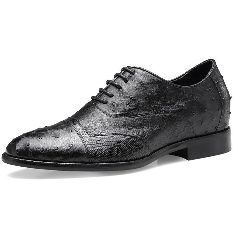 【金墨瑞】鳄鱼皮定制皮鞋内增高7.5CM彰显男人尊贵品味(偏大一码)