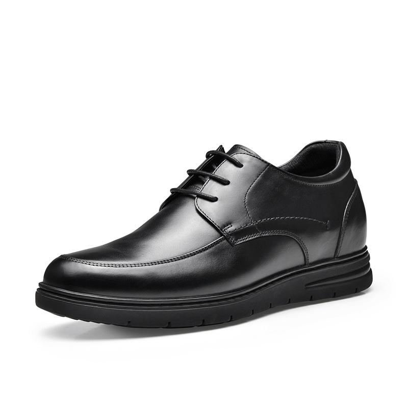 【何金昌】商务休闲皮鞋内增高 男士休闲皮鞋 套脚款