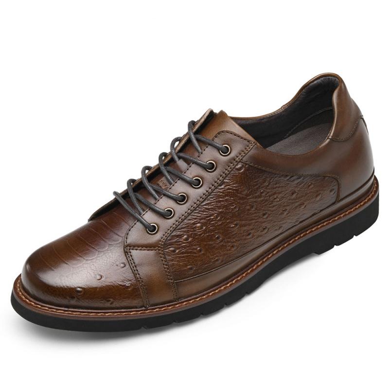 【金墨瑞】时尚商务休闲男鞋舒适内增高皮鞋增高7.5厘米黑色