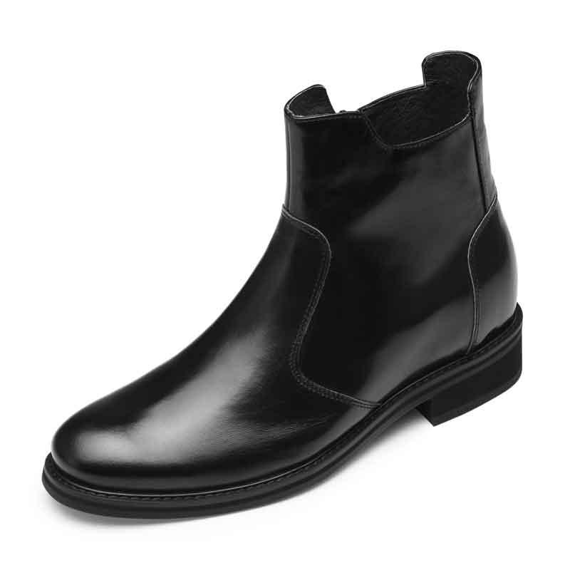 【何金昌】增高鞋7CM马丁靴男真皮短靴冬季靴子男士工装靴内增高男靴