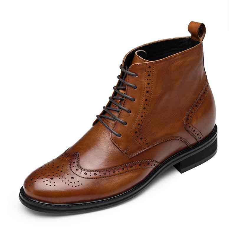 【何金昌】正装真皮靴子 新款骑士靴 真皮男士靴 7CM