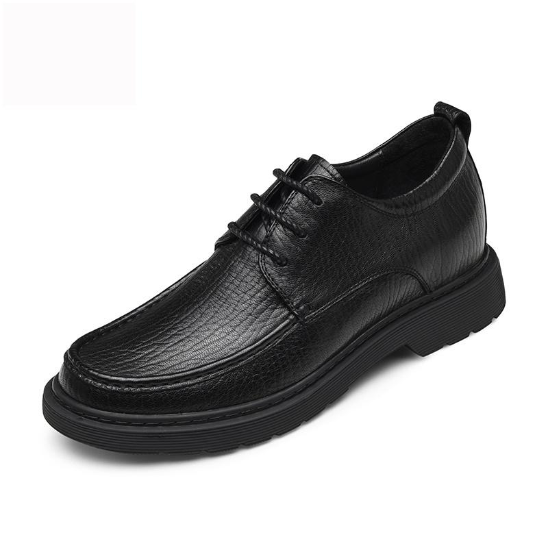 【何金昌】新款改色牛皮男士内增高真皮皮鞋5CM