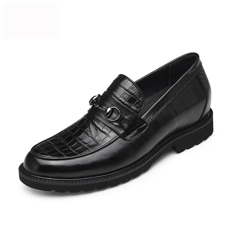 【何金昌】新款复古深棕色改色牛皮鞋男士增高皮鞋增高5cm