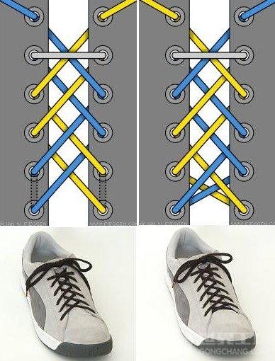 马丁靴鞋带系法图解