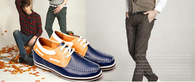 新款/何金昌2014年新款内增高鞋——简约轻软绝佳舒适皮鞋