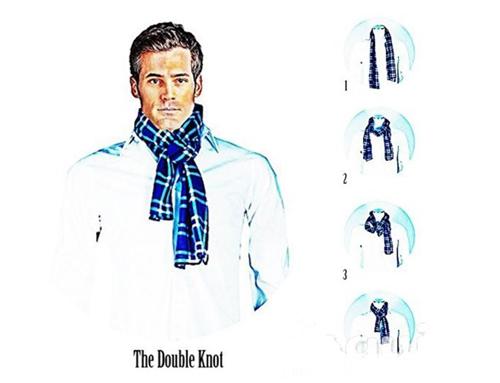 围巾的5种系法图解,围巾巧搭让你大放异彩!