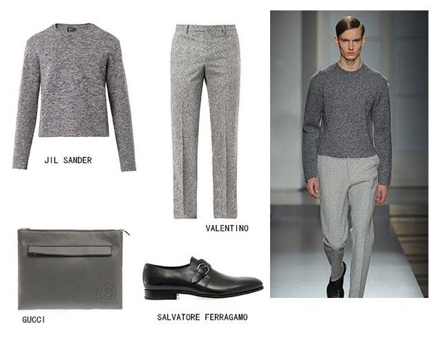 灰色裤子配什么颜色的鞋子 如何穿好灰色套装