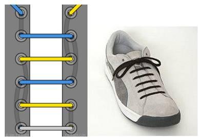 工装鞋鞋带的系法【图解】