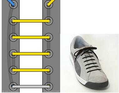 工装鞋鞋带的系法【图解】图片