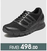 黑色内增高运动鞋