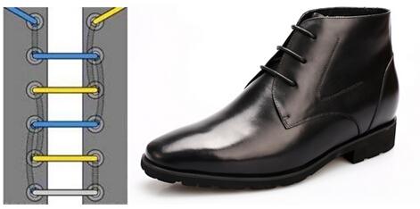 高帮马丁靴鞋带的系法图解
